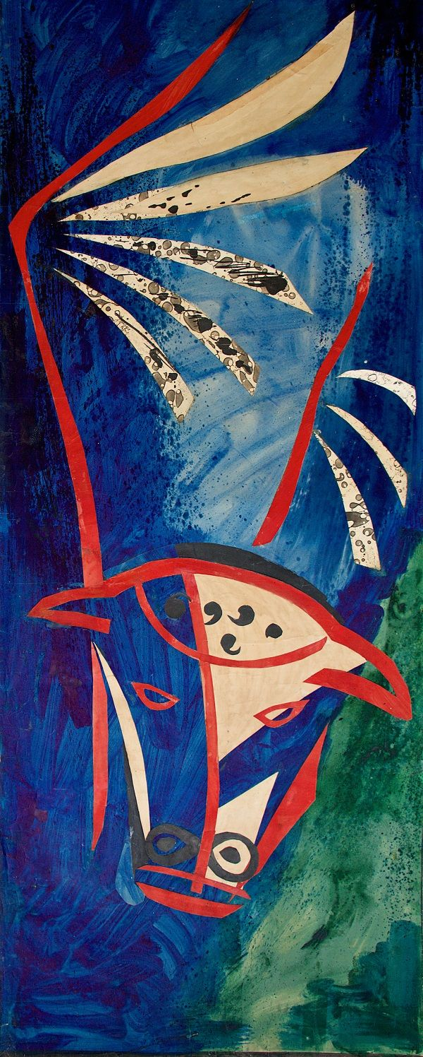 John Piper, Cartoon for St Luke, Chichester cathedral Tapestry, 1965, Pallant House Gallery, © The Piper Estate