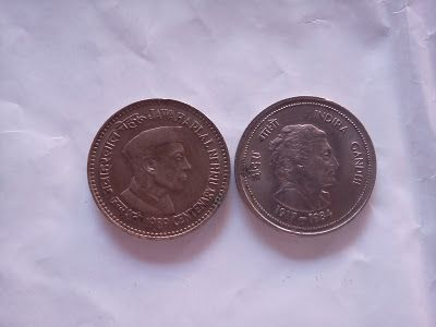 Old Coins, Stamps & Antique Coins for Sale: 5 rupee indira gandhi and jawaharlal nehru coins for sale