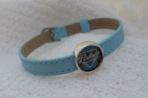 MLB San Diego Padres Genuine Leather by Sports Jewelry Studio.  $8.50.  etsy.com/shop/sportsjewelrystudio