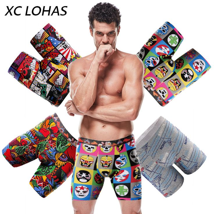 Brand Cartoon Print Cotton Boxer Long Leg Man Underwear Shorts Soft Lengthening Male Panties Cueca Calzoncillos Hombre Plus Size //Price: $19.33 & FREE Shipping //     #hashtag4