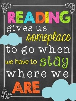 FREE! Set of cute little quote posters to brighten up your space! They are perfect for a classroom library or any other wall that needs some inspiration!
