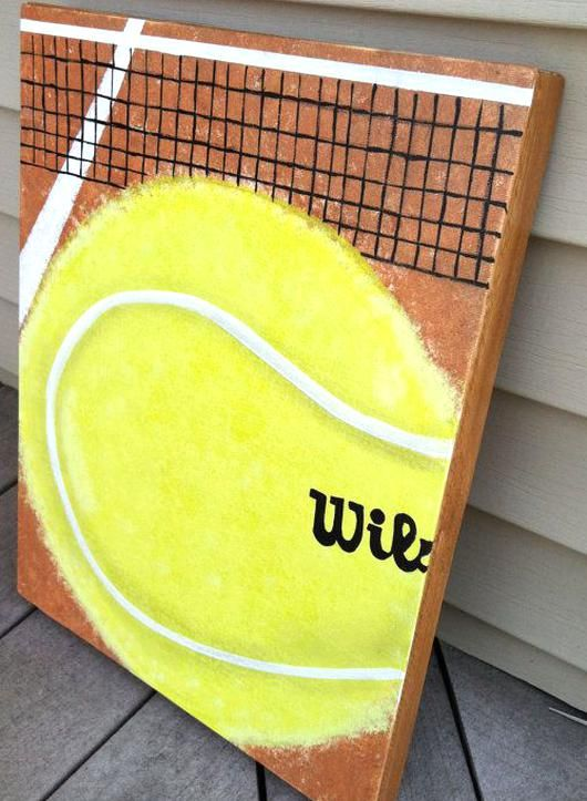 Tennis Ball Painting Tennis Acrylic Artwork By Itmightjustbeaphase In 2020 Tennis Art Tennis Artwork Tennis Drawing