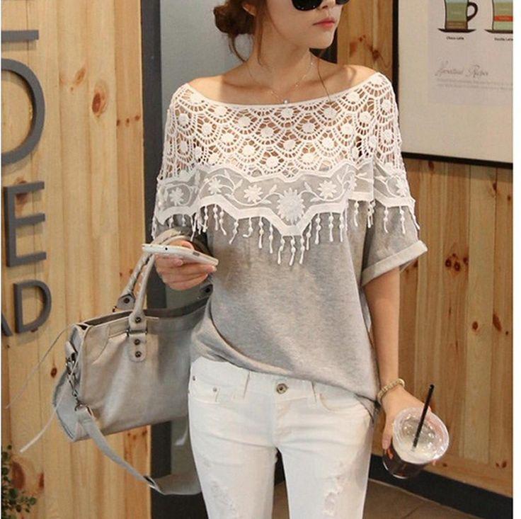 1pcs Sweet Lace Cutout Collar Women Tops Batwing Sleeve Crochet Cape Collar Hollow Out Handmade T-shirt Hot Sale