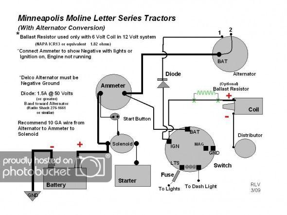 ammeter wiring 3 wire alternator to chevy  alternator