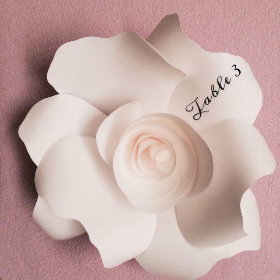 Flor Escort tarjetas de papel / lugar ajustes por PaperPoshEvents1