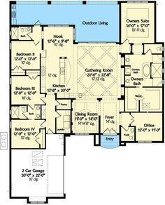 Classic 4 Bed Mediterranean House Plan - 42835MJ | 1st Floor Master Suite, Butler Walk-in Pantry, CAD Available, Den-Office-Library-Study, Florida, Jack & Jill Bath, Luxury, Mediterranean, PDF, Photo Gallery, Southern, Spanish, Split Bedrooms | Architectural Designs