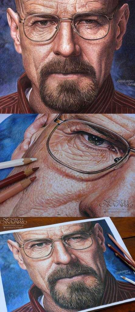 Amazing , this is colored pencil ~ Nestor Canavarro
