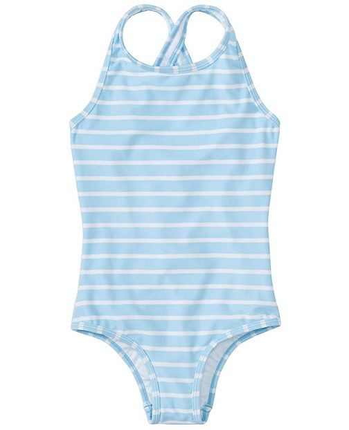 This one piece from Hanna Andersson is great, perfect for lounging on the beach! Sizes 3y - 13y