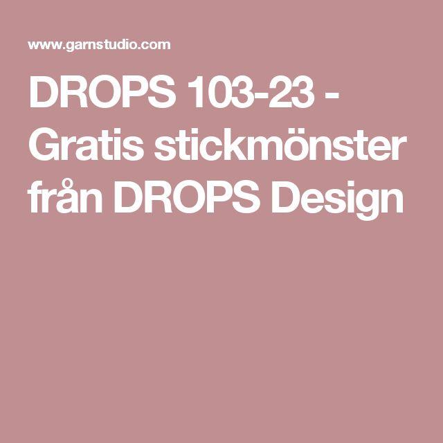 DROPS 103-23 - Gratis stickmönster från DROPS Design