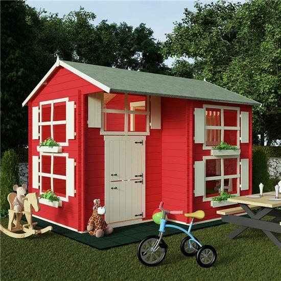 The BillyOh Mad Dash Annex Log Cabin Wooden Playhouse