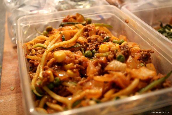 Recept: Courgette Spaghetti (Koolhydraatarm)