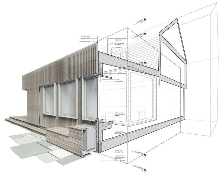 Highberg house Cut Away Rendering (Vray, 3D Max, Illustrator)