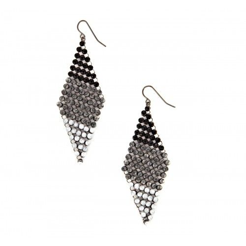 Chainmaille Earring  - Black
