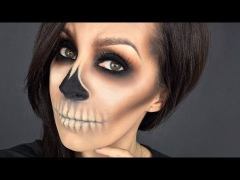 easy skull l halloween makeup tutorial l minimal products used lets learn makeup - Fun Makeup Ideas For Halloween