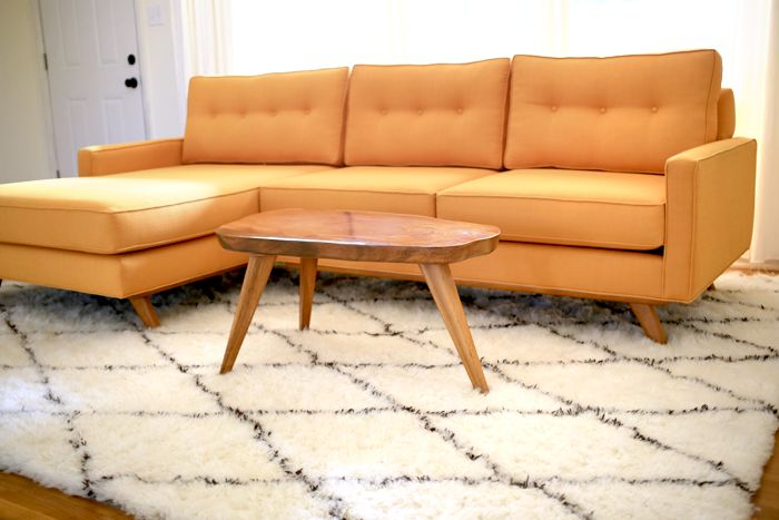 Taylor Sectional In Klein Citrus By Thrive Furniture
