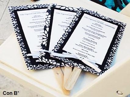 Original programa de boda