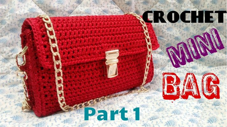 How to Crochet Mini Bag Part 1 - Hướng dẫn móc túi mini P1 - YouTube
