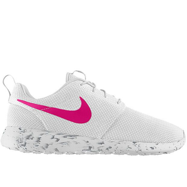 Nike Roshe Run Women White with Custom