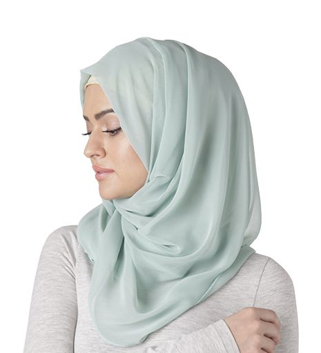 | PEPPERMINT SOFT GEORGETTE HIJAB | Pastel blue <3