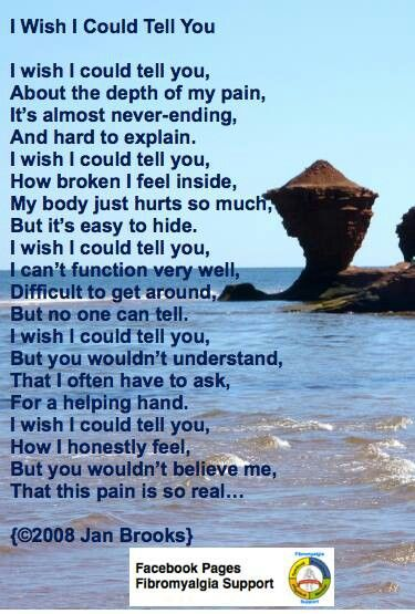 A touching poem, outlining the hardships of people with chronic pain. Painmaster could help with this. Don't be ruled by pain.