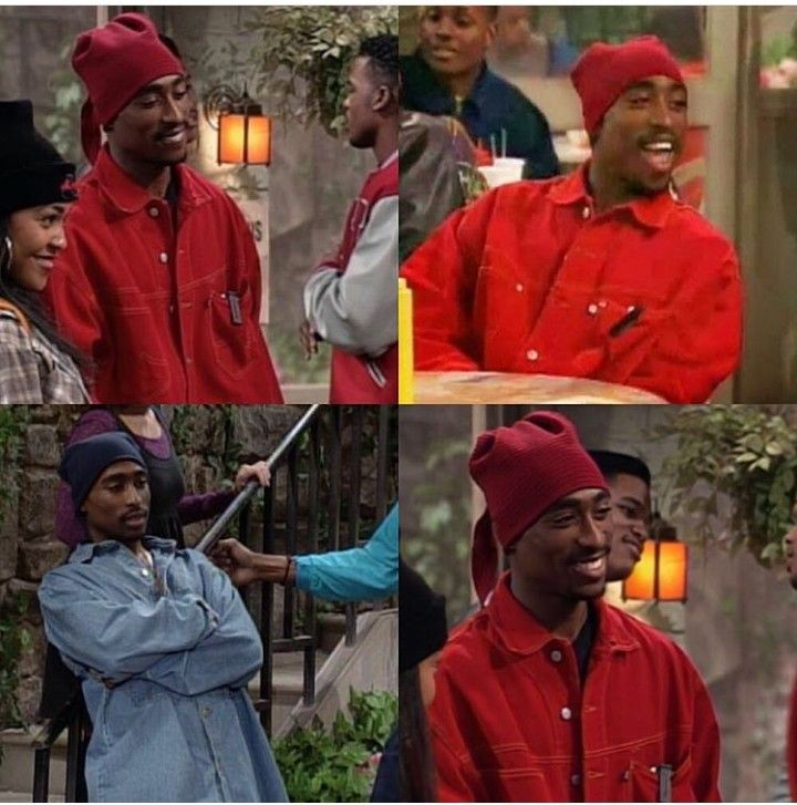 Actor Tupac Shakur in guest start on A Different World.