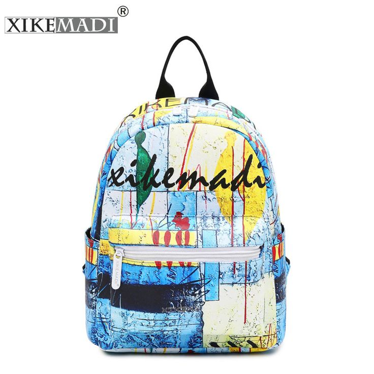XIKEMADI Brand 2017 Hip-Hop Graffiti Backpack Women PU Leather 3D Painting Backpacks for Girls Casual Travel Shoulder Schoolbags #Affiliate