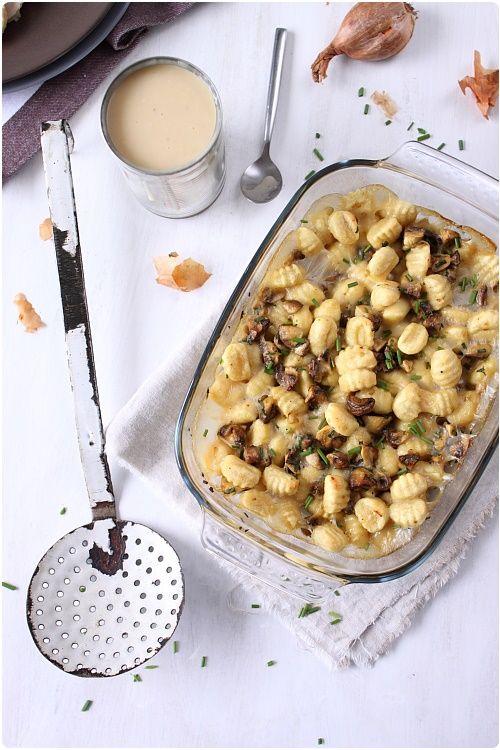 Gnocchi gratinés aux champignons
