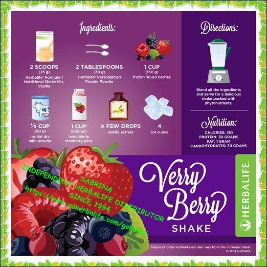Enjoy your Herbalife Formula 1 Protein Healthy Meal Shake! Try a different recipe every day! HIGH in NUTRIENTS and LOW in CALORIES! So Yummy and healthy! Get yours today!  SABRINA  INDEPENDENT HERBALIFE DISTRIBUTOR SINCE 1994  Helping you enjoy a healthy, active and successful life!  Empowering You To Change  www.GoHerbalife.com/faleenmarie/en-US or email me at faleenbryant@gmail.com
