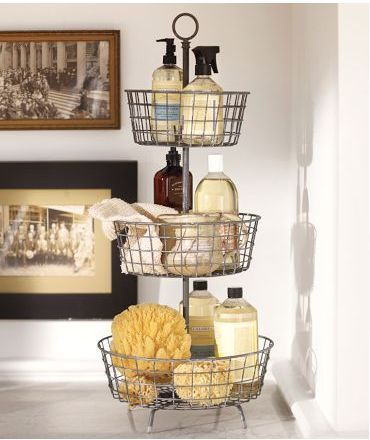Tiered Bath Storage from Pottery Barn. Want this for guest bathroom...?