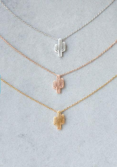 84 best simple pendant necklaces images on pinterest drop necklace cactus necklace aloadofball Images