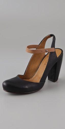 Coclico Shoes Calista Sling Back Pumps. Perfect black shoes.