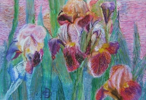 Dorina Padineanu, Irisis,34x47,5cm,pastel on ArtStack #dorina-padineanu #art