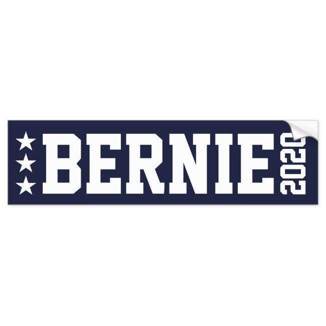 Bernie Sanders President 2020 White Bumper Magnet