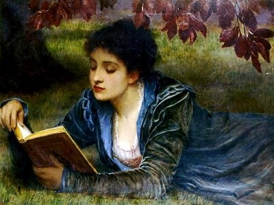 Another Perugini (Dickens son-inlaw) of a woman reading #victorian #art #literary