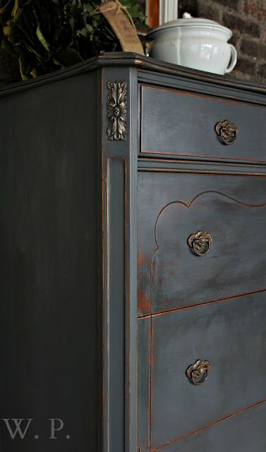 Whimsical Perspective: A Whimsical Makeover: The Graphite Dresser