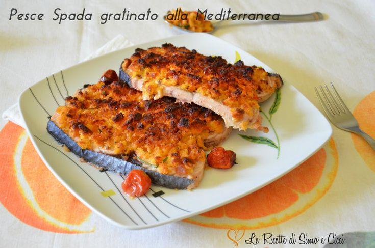 Il Pesce Spada gratinato alla Mediterranea è un secondo piatto molto semplice e con ingredienti e profumi tipicamente mediterranei. Come pesce abbiamo util