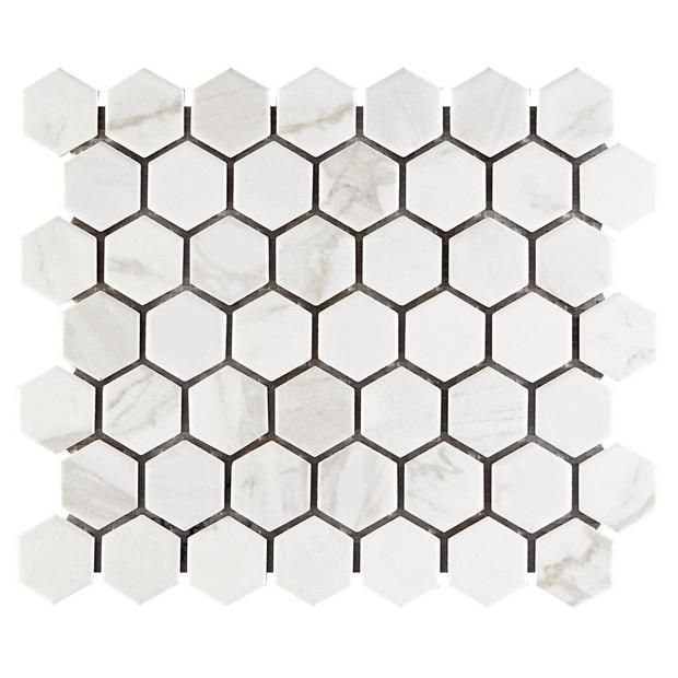 Marble Art 1 5 In Hexagon Ceramic Mosaic Ceramic Tile Bathrooms Marble Ceramics Marble Art