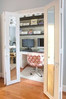 I like the doors! This would be great for a closet instead of the sliding mirrors