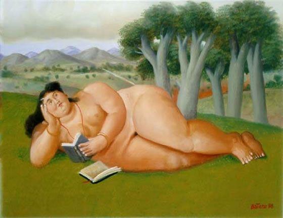 FERNANDO BOTERO Mujer leyendo