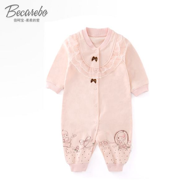 Ползунки, комбинезоны из Китая :: Весной и осенью baby onesies новых новорожденных Ромпер девочек одежду длинный рукав хлопок ребенка одеваться, одежда прилив.