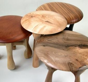 'Mushroom' stools by Naturalism Furniture