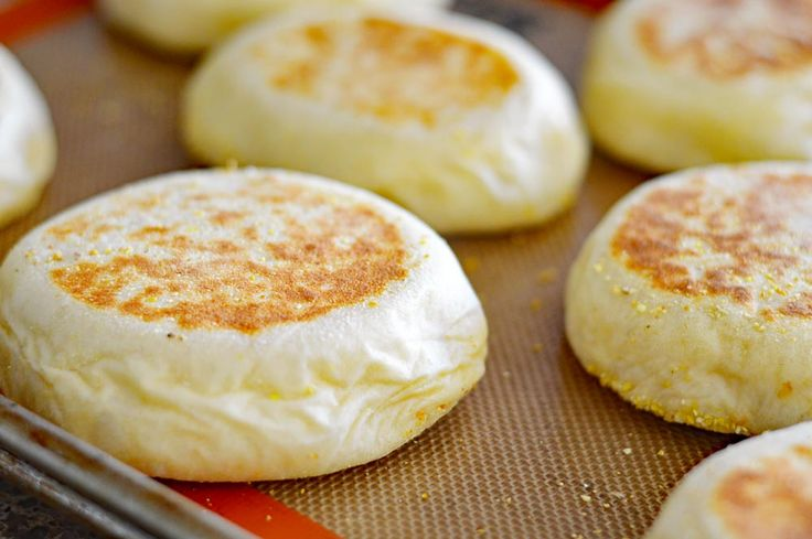 These Homemade English Muffins {Vegan} are delicious spread with vegan margarine or your favorite jam. They also freeze really well!