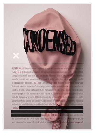 Condensed experimental type poster by Tom Davie   studiotwentysix2