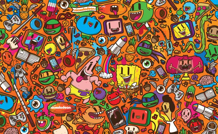 Nickelodeon Franchise Pattern on Behance
