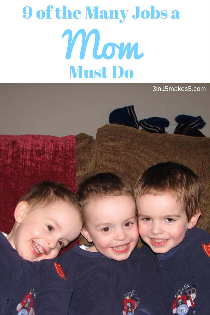 9 of the many jobs a mom must do. We have to wear so many different hats.