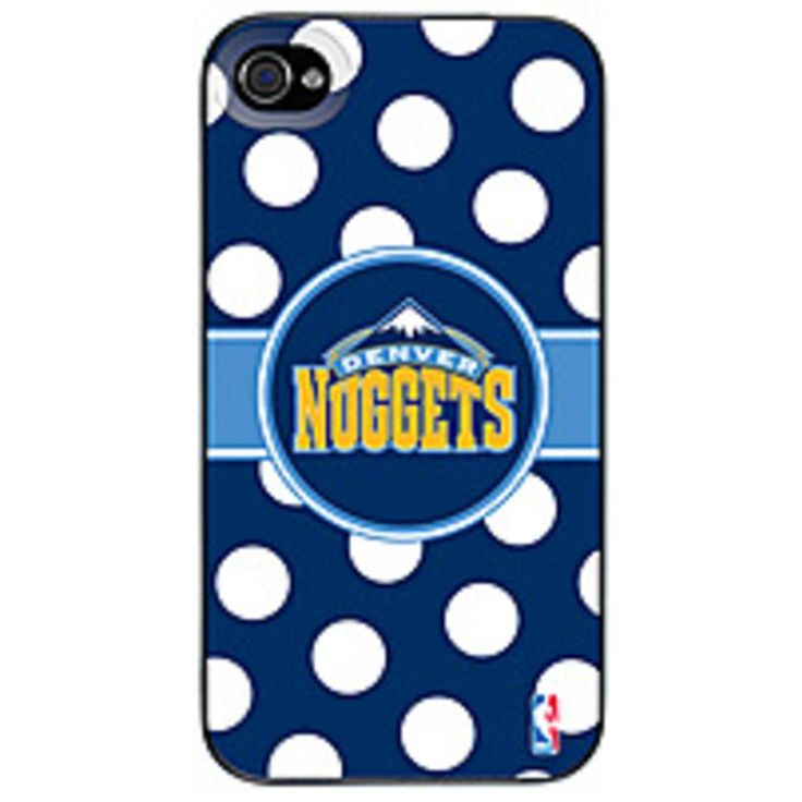 Coveroo 401-8468-BK-FBC Denver Nuggets Polka Dots Thinshield Snap-On Case for iPhone 4/4S