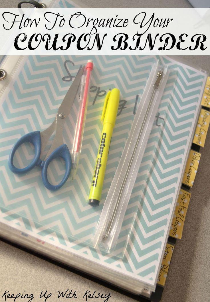 Coupon Binder Part #1, ways to go about organizing and creating a coupon binder