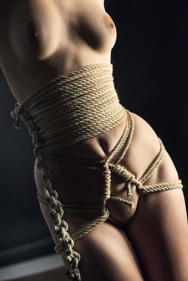 Close Up Nude Rope Harness