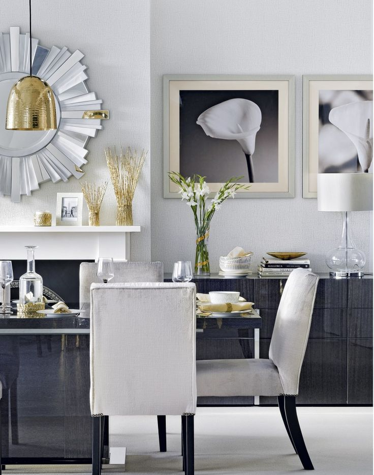 Give Your Dining Room A Luxurious Feel With Touches Of