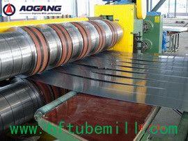 slitting line     O principal produto são :1. Moinho de Tubo soldado alta freqüência  2.moinho de quadrado Tubo Soldado  3. Moinho de tubo de aço inoxidável  4.Compele conjunto de peças de reposição 5.Corte Frio Serra 6.máquina de embalagem automático 7.máquina formadora de rolo Empresa :Aogang Máquinas co.,ltd de shijiahuznag  O site :www.hftubemill.com  Email: miguel@hftubemill.com